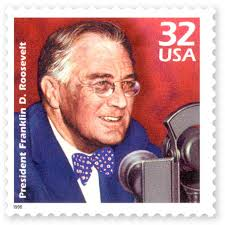 Postage stamp of Franklin Delano Roosevelt