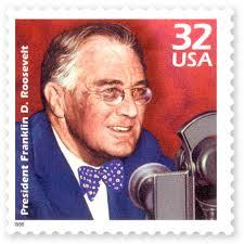 Postage stamp of Franklin Delano Roosevelt