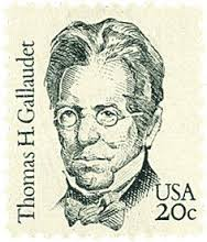 Postage stamp of Thomas H. Gallaudet