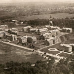 The many buildings of the Pennhurst institutional campus from the 1920s