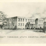 Drawing of Dibert Building at Torrance State Hospital
