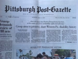 Picture of front page of post gazette featuring story about Consortium linked to this post.