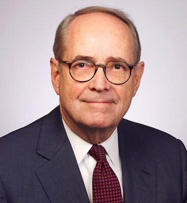 Head shot of Dick Thornburgh, an older white man with glasses wearing a suit.